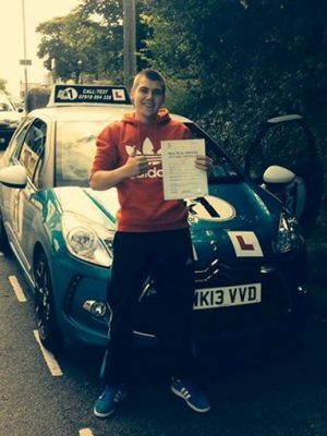 Aurelis passing driving test