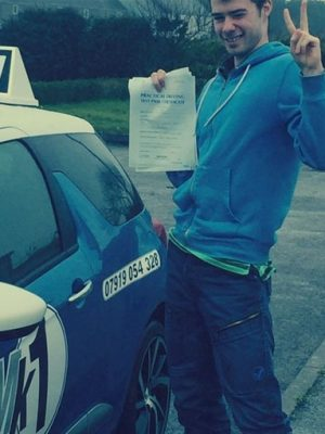 Connor passing driving test
