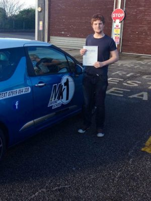 Richard passing driving test